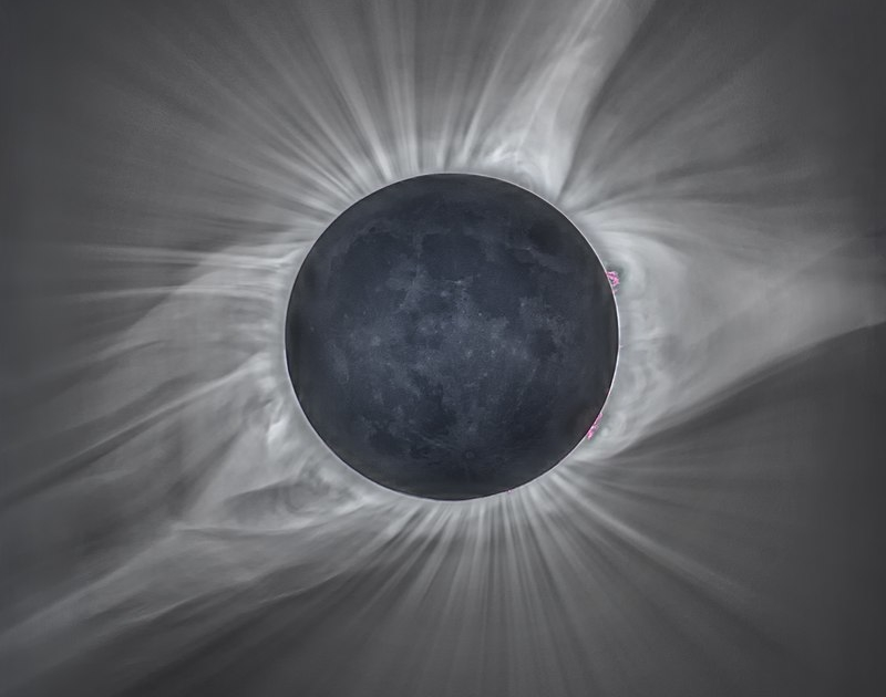 Solar Eclipse during totality captured in 2017