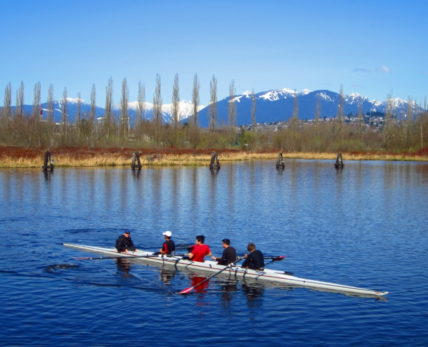 Rowers at Burnaby Lake