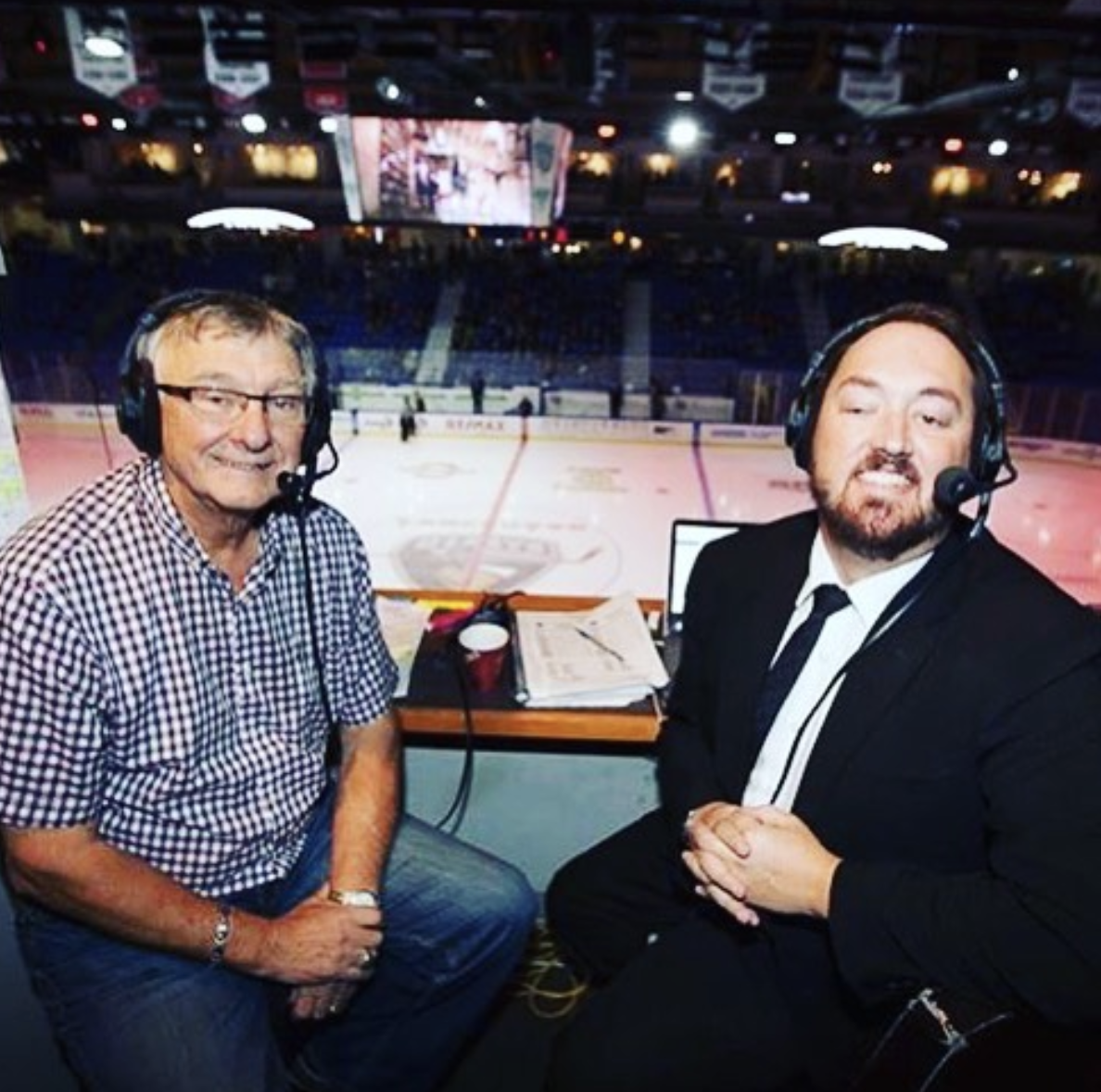 Dan O'Connor and side commentator Bill Wilms